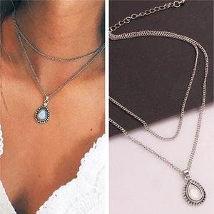 Jewelry - Vintage Layered Water Drop Necklace